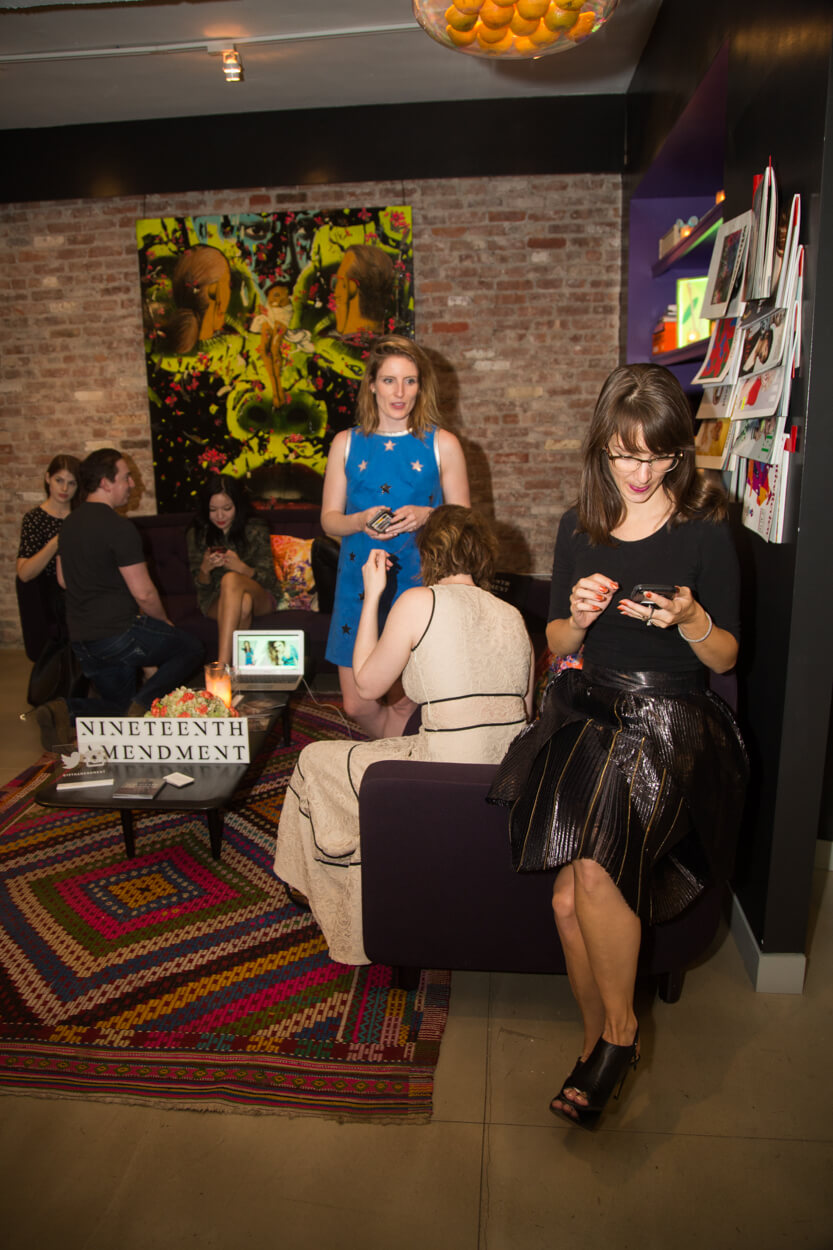 The Nineteenth Amendment Lounge was a space for bloggers and brands to meet and connect during the event.
