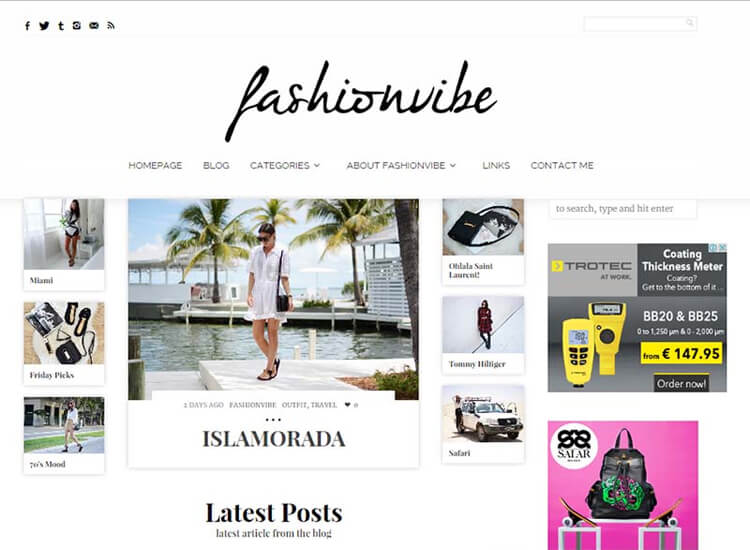 FashionVibe Website Screenshot