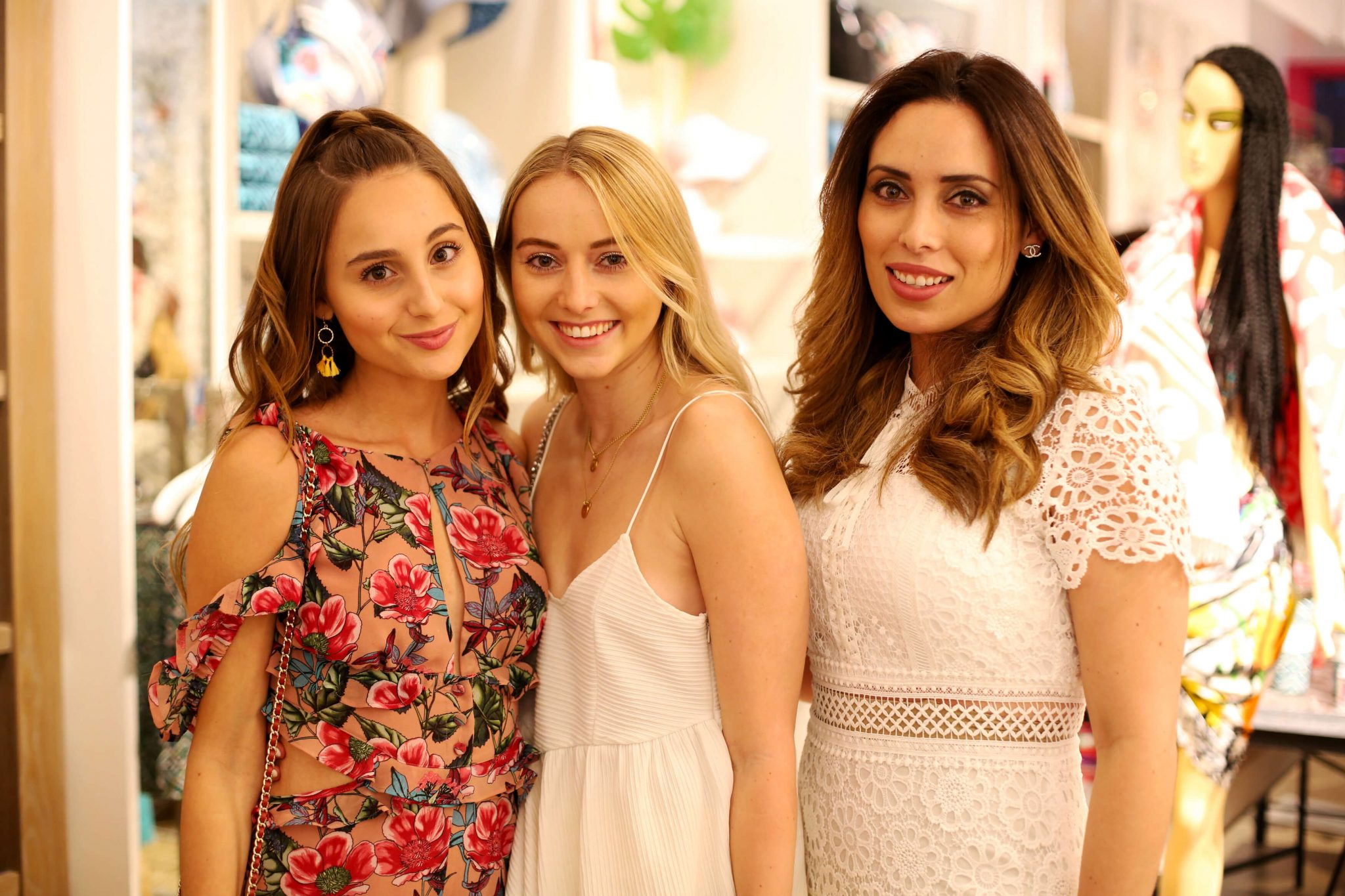 Alexandra Chloe, Vivien Gutbrod and Tatiana Pujol at Blogger and the Brand Shop